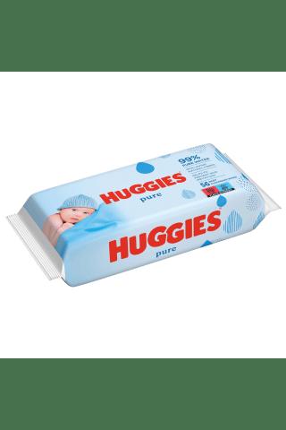 Drėgnos servetėlės HUGGIES PURE SINGLE, 56 vnt.