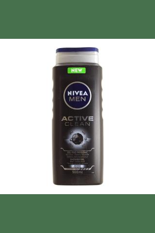 Vyriška dušo želė NIVEA MEN ACTIVE CLEAN, 0,5 l