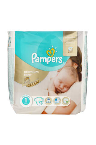 Sauskelnės PAMPERS PREMIUM CARE VP (1) 2-5 kg, 88 vnt.