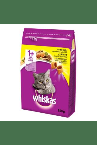 Sausas kačių ėdalas su vištiena ir daržovėmis WHISKAS 1+, 950 g