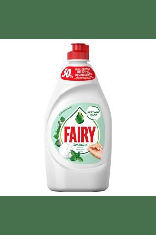 Trauku mazgāšanas līdzeklis fairy sensitive tea tree & mint  450 ml