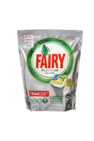 Trauku mazgājamās mašīnas kapsulas Fairy Platinum Lemon 45gb
