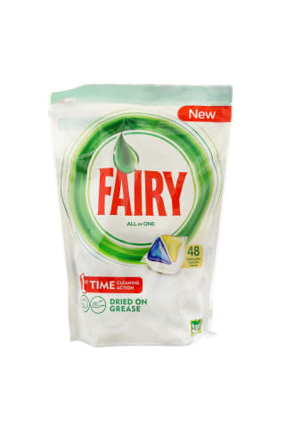 Trauku mazgājamās mašīnas kapsulas Fairy All in 1 Lemon 48gb