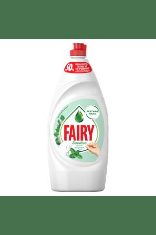Trauku mazgāšanas līdzeklis fairy sensitive tea tree & mint 900 ml