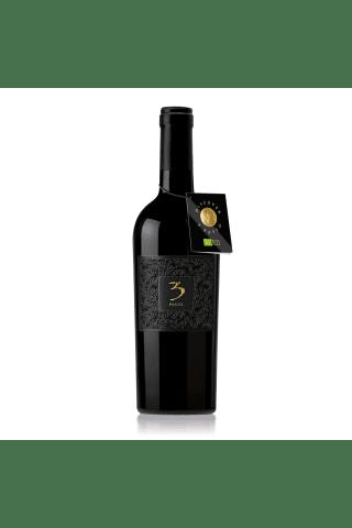 Sarkanvīns 3 Passo Rosso Negroamaro/Primitivo Puglia Organic sausais 14% 0,75l