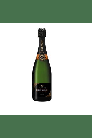 Šampanietis Veuve Doussot Champagne Demi-Sec Sélection pinot noir chardonnay pussausais 12,5% 0,75l