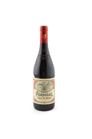 Sarkanvīns Leon Perdigal Grenache Syrah Cotes du Rhone Valley sausais 14% 0,75l