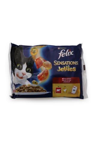 Kaķu barība Felix sensations gaļas asorti 4x100g