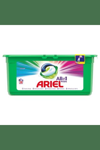 Veļas mazgāšanas kapsulas Ariel color 28gab
