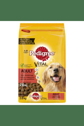 Sausā barība suņiem Pedigree ar liellopu gaļu 2.6kg