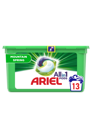 Veļas mazgājamās kapsulas Ariel moun spring 14 gab.