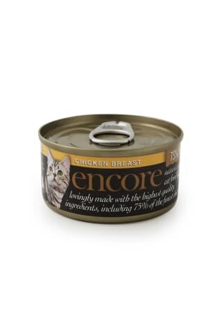 Kačių konservai su vištiena ENCORE, 70 g