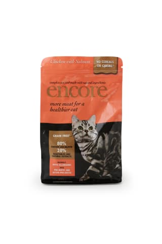 Sausas kačių ėdalas su vištiena ir lašiša ENCORE, 800 g