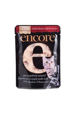 Kačių konservai su vištiena ir rudaisiais ryžiais ENCORE, 70 g