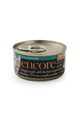 Konservs kaķiem Encore ar skumbriju un tunci 70g