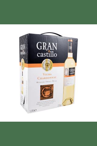 Baltvīns Gran Castillo Viura Chardonnay Bib 11% 3l