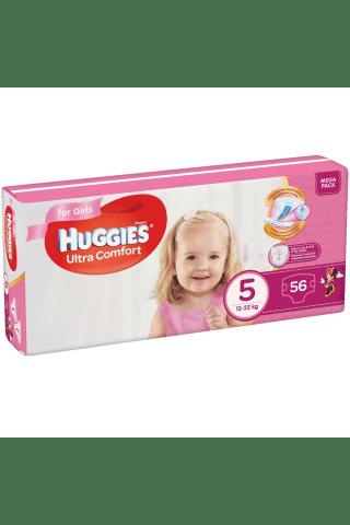 Autiņbiksītes Huggies uc girls mp 5 12-22kg 56gb