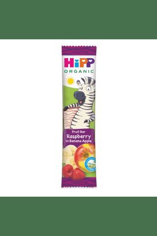 Ekologiškas bananų, obuolių sulčių ir aviečių sulčių batonėlis nuo 12 mėnesių HIPP, 23 g