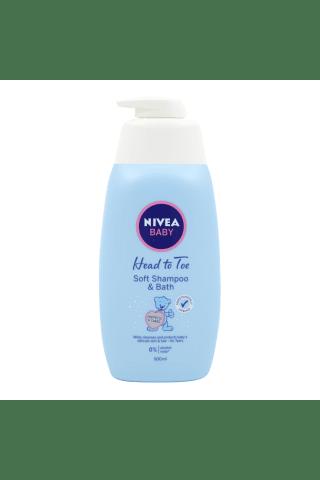 Švelnus šampūnas ir vonios prausiklis kūdikiams NIVEA BABY, 500 ml