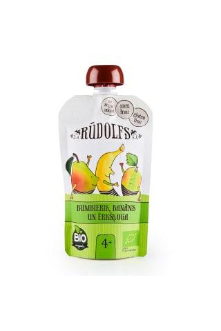 Biezenis Rūdolfs Bio banānu,ērkšķogu 4m 110g