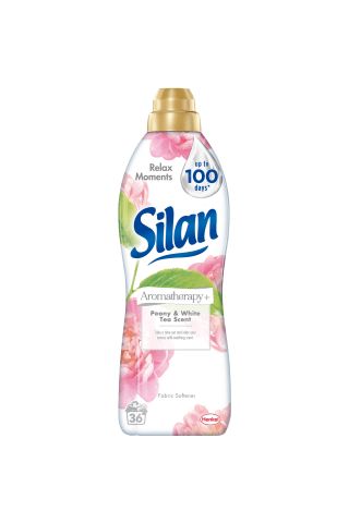 Skalbinių minkštiklis SILAN PEONY & WHITE TEA, 36 skalbimai, 900 ml