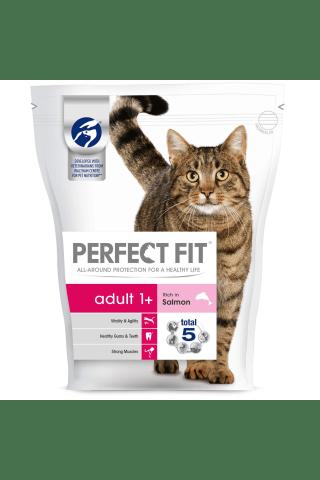 Sausā barība kaķiem Perfect Fit ar lasi 750g