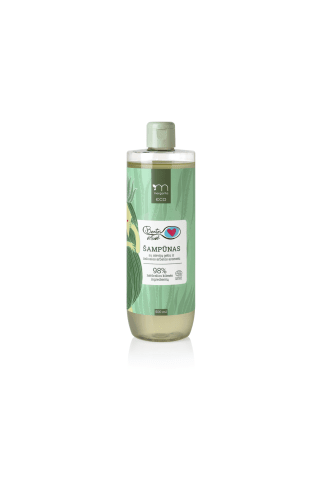 Plaukų šampūnas su alavijų geliu ir žaliosios arbatos aromatu MARGARITA ECO BEATOS VIRTUVĖ, 500ml