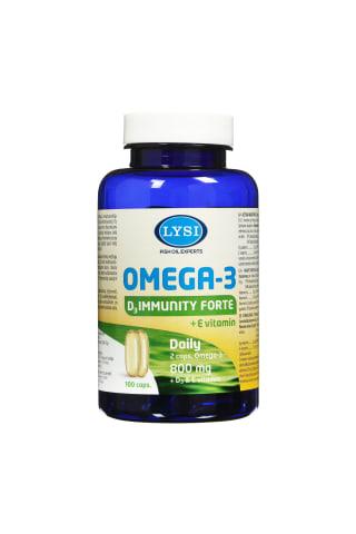 Kapsulas Lysi Omega-3 Immunity Forte + E vitamīns, 100 tabletes