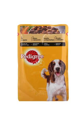 Konservs suņiem Pedigree ar cāļa gaļu un dārzeņiem 100g