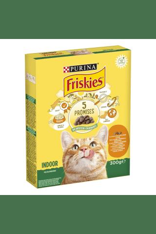 Pilnvērtīga barība mājas pieaugušiem kaķiem  Friskies ar vistas gaļu un dārza zaļumiem 300g