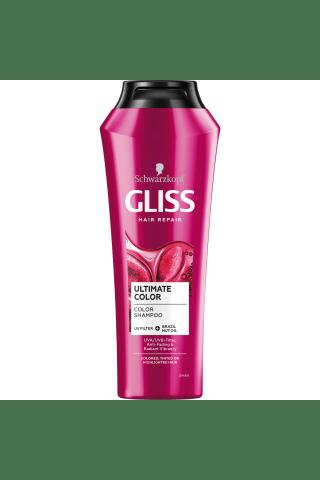 Šampūnas dažytiems plaukams GLISS KUR, 0,25 l