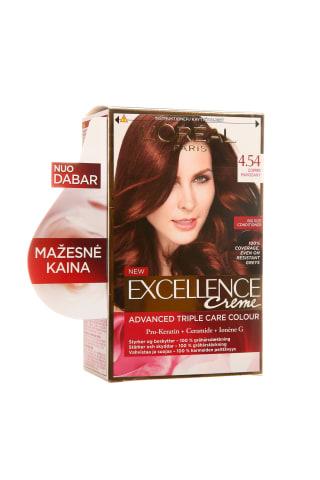 Plaukų dažai L'OREAL EXCELLENCE, Nr. 4.54