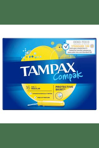 Tamponi Tampax Compak Regular ar aplikatoru 16 gab