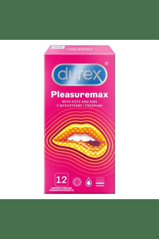 Prezervatyvai DUREX PLEASUREMAX, 12 vnt