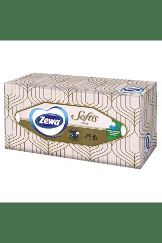 Kosmetinės servetėlės ZEWA SOFTIS, 4sluoksn., 80 vnt