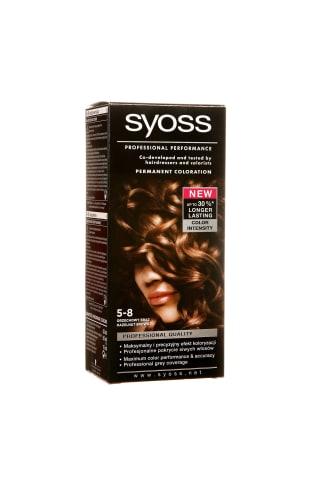 Matu krāsa Syoss color 5-8 riekstu brūns