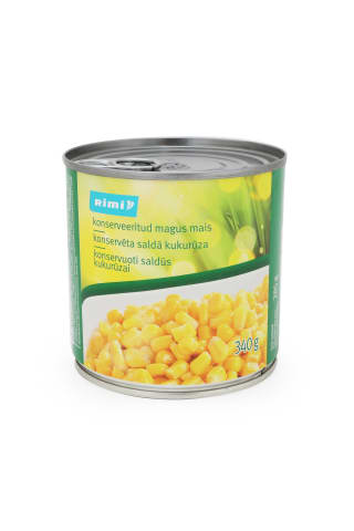 Saldūs kukurūzai RIMI, 340 g