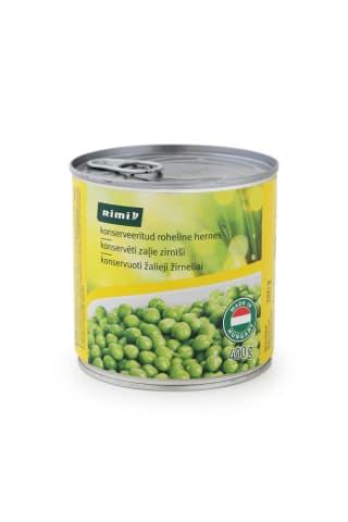 Konservēti zaļie zirnīši Rimi 400g/280g