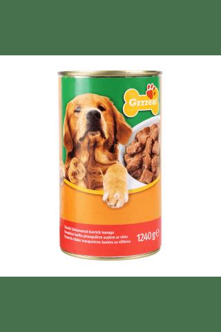 Kompleksa konservēta barība pieaugušiem suņiem. Grrreat ar mājputnu gaļu 1.24 kg