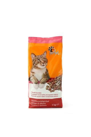 Sausas kačių ėdalas su jautiena PURRRFECT, 1 kg