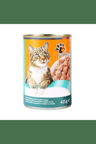 Kompleksa konservēta barība pieaugušiem kaķiem ar zivīm Purrrfect Nutribalance 415g