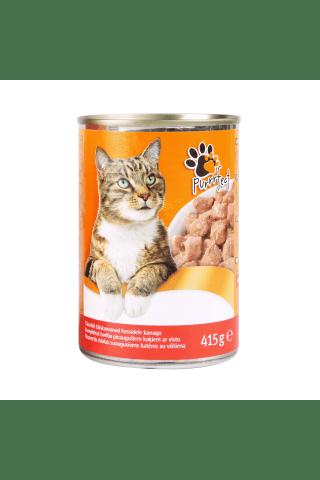 Konservuotas ėdalas katėms su vištiena PURRRFECT, 415 g