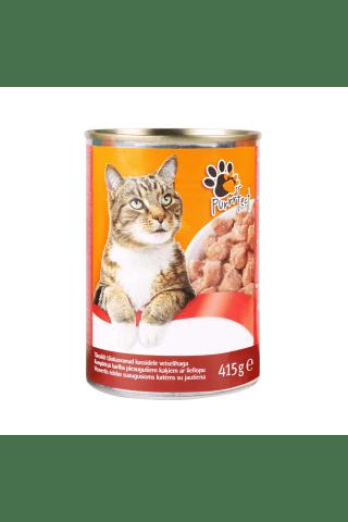 Kompleksa konservēta barība pieaugušiem kaķiem ar liellopu gaļu Purrrfect Nutribalance 415g