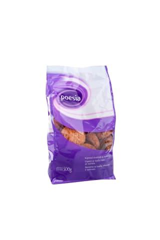 Sausainiai POESIA su kviečių sėlenomis ir razinomis, 500 g