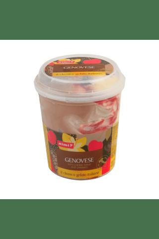 Vaniliniai ir kakaviniai ledai su vyšnių sirupu, 1 l