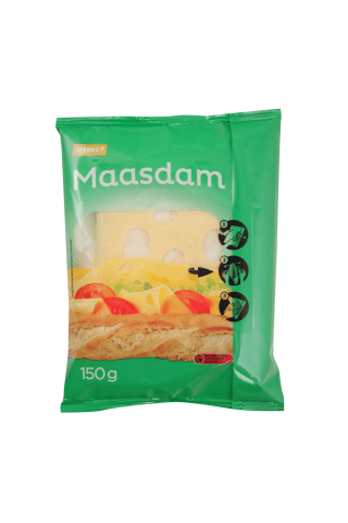 Cheese Rimi Maasdam sliced 150g