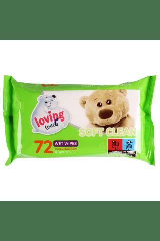 Mitrās salvetes Loving touch 72gab