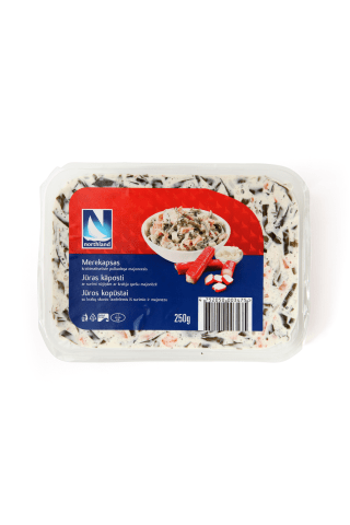 Jūras kāposti Northland ar surimi nūjiņām ar krabju garšu majonēzē 250g
