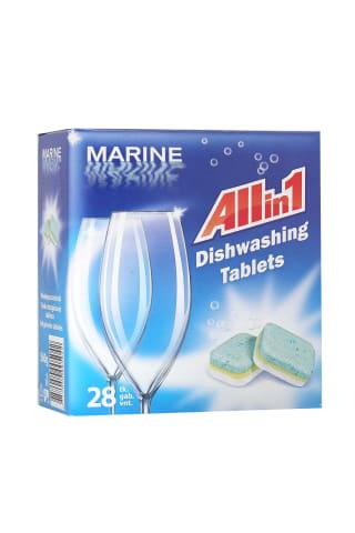 Tabletes Marine trauku mazgājamai mašīnai 28gab