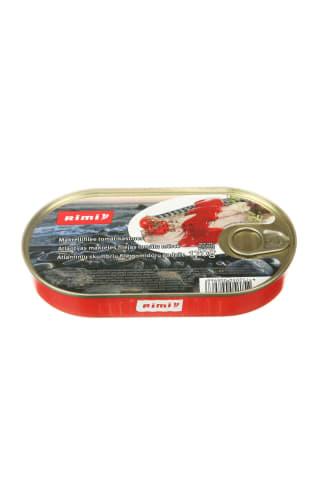 Atlantinių skumbrių filė pomidorų padaže RIMI, 170 g